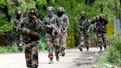Two militants were killed on Saturday at LoC in TMG sector of Handwara