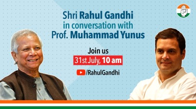 Rahul Gandhi in conversation with Nobel Laureate Prof. Muhammad Yunus