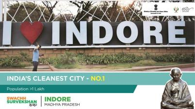 Indore cleanest city in India for the fourth consecutive time via Twitter