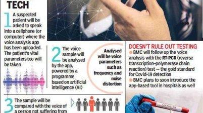 COVID19: Mumbai to start AI - based Voice test to detect #Coronavirus