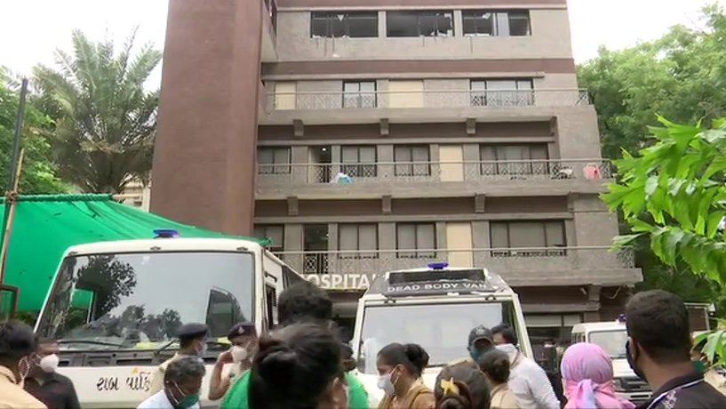 8 people died as fire breaks out at COVID19 hospital in Ahmedabad
