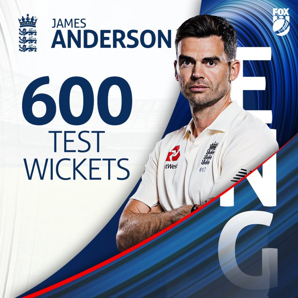 Cricket: James Anderson join the 600 Club....becoming fourth bowler in history to do so...