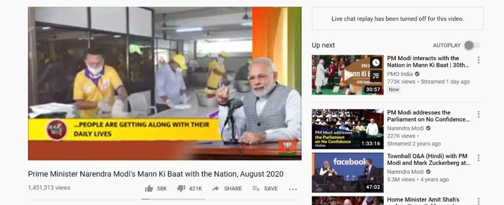 PM Modi's 'Mann Ki Baat' Video Gets Over 5 Lakh Dislikes on YouTube