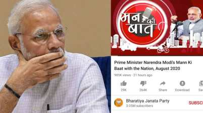 PM Modi's video gets more than 6.5 Lakh dislikes