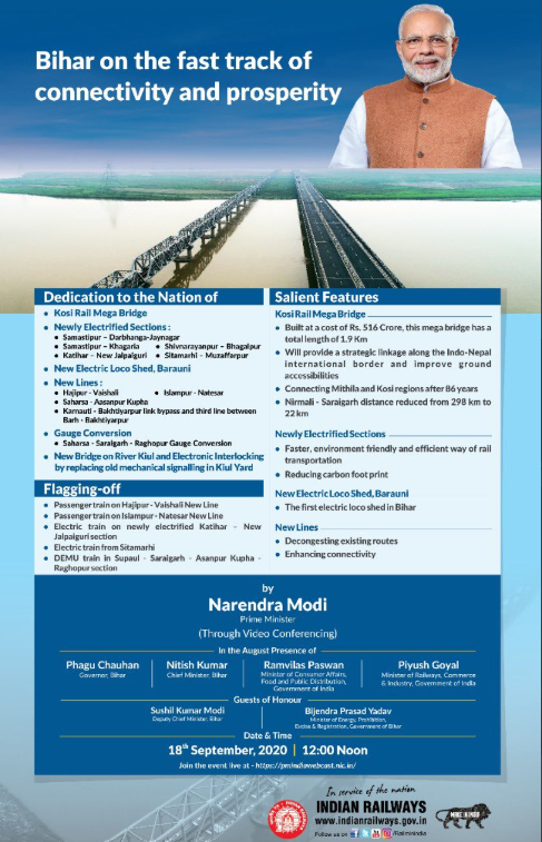 A boost to Rail Infrastructure in Bihar