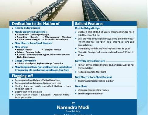 PM Modi inaugurates Kosi rail mega bridge in Bihar
