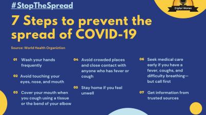 Preventing the spread of the coronavirus