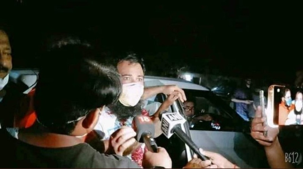 Dr Kafeel Khan released from Mathura jail following conditional bail granted to him by Allahabad High Court.