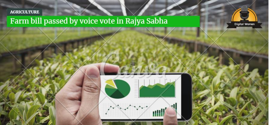 Farm bill passed by voice vote in Rajya Sabha
