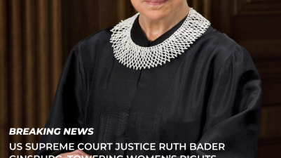 US Supreme Court Justice Ruth Bader Ginsburg, towering women's rights champion Dies At 87