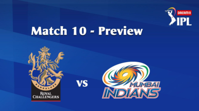 #IPL2020: 10th Match of the Dream11 Indian Premier League (IPL) Royal Challengers Bangalore (RC) take on Mumbai Indians (MI)