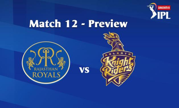 #IPL2020: 12th Match of the Dream11 Indian Premier League (IPL) Rajasthan Royals (RR) take on Kolkata Knight Riders (KKR)