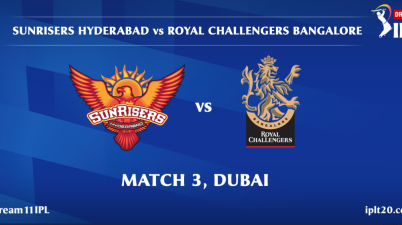 Match SunRisers Hyderabad face Royal Challengers Bangalore
