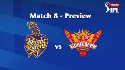 #IPL2020: 8th Match of the Dream11 Indian Premier League (IPL), Sunrisers Hyderabad (SRH) take on Kolkata Knight Riders (KKR) Image Via IPL Website