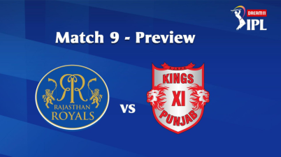 #IPL2020: 9th Match of the Dream11 Indian Premier League (IPL) Rajasthan Royals (RR) take on Kings XI Punjab (KXIP) Image Via IPL website