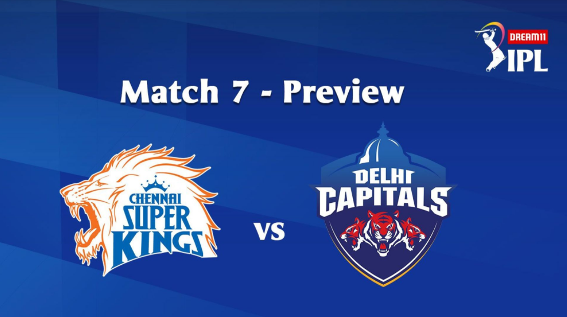 #IPL2020: 7th Match of the Dream11 Indian Premier League (IPL), Chennai Super Kings (CSK) take on Delhi Capitals (DC) Image Via IPL2020 Website