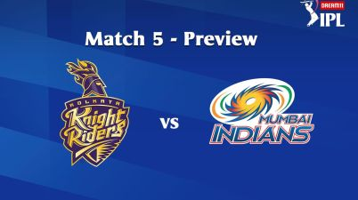 5th Match Kolkata Knight Riders (KKR) to face Mumbai Indians (MI) today