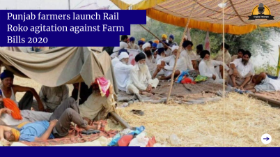 Punjab farmers launch Rail Roko agitation against Farm Bills 2020
