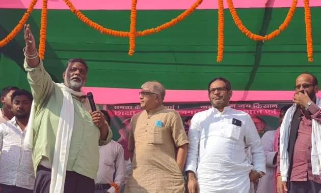 Stage collapses at JAP leader PappuYadav's rally