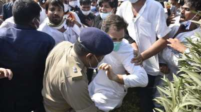 Congress leader Rahul Gandhi was manhandled by UP Police