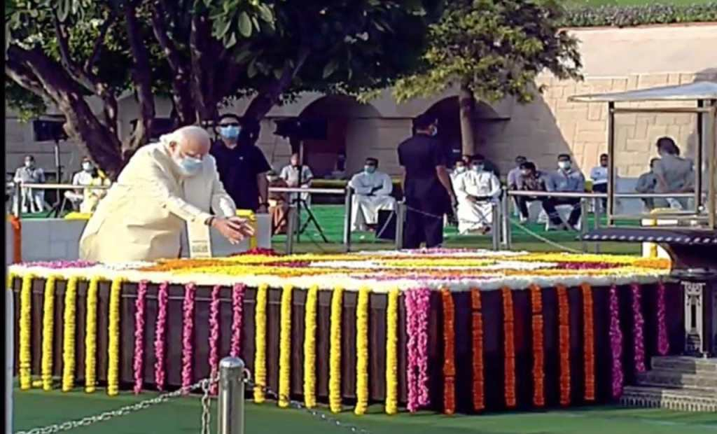 President, PM Modi, Leaders Pay Tribute To The Father Of The Nation