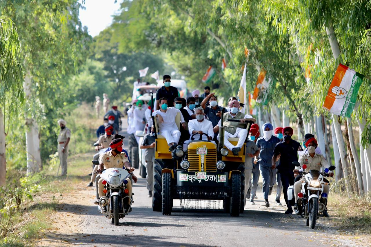 Rahul Gandhi's 3-Day Tractor Rally in Punjab