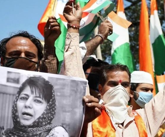 BJP Leads Tiranga Yatra over Mehbooba Mufti's National Flag Remark