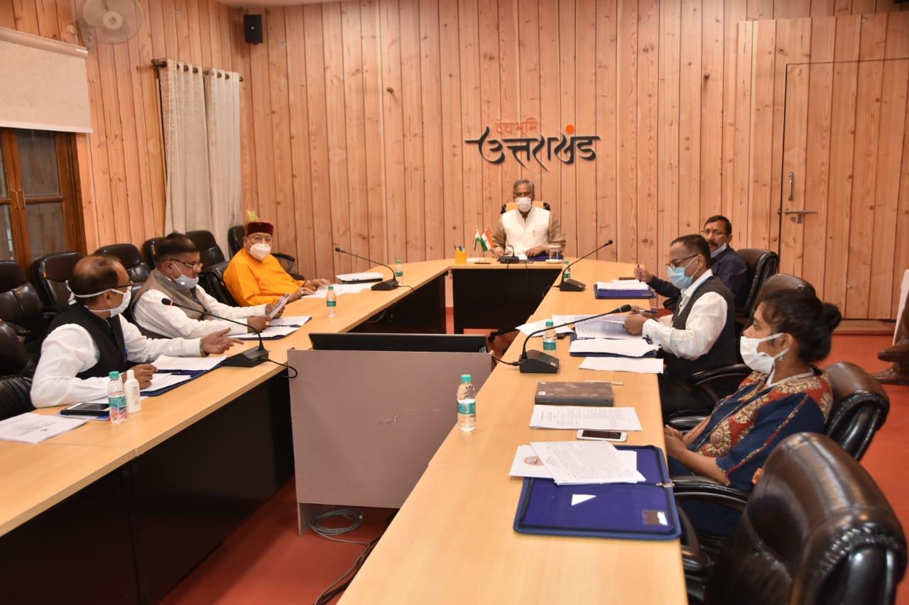 Uttarakhand Char Dham Devasthanam Management Board meeting with chief minister Trivendra Singh Rawat