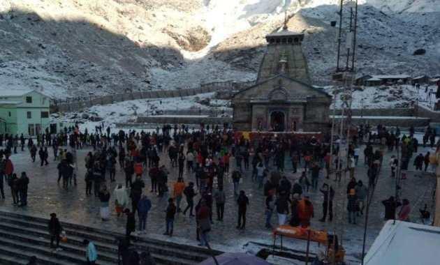kedarnath Dham: Heavy Snowfall in Kedarnath