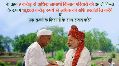 PM To Address 9 Crore Farmers today, release ₹18K crores to beneficiaries under PM-KISAN