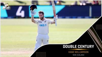 New Zealand captain Kane Williamson hits fourth double century