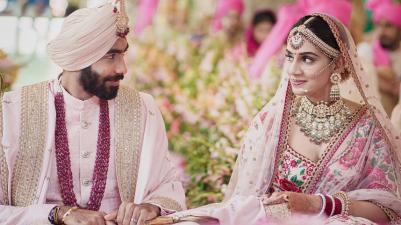 Indian Cricketer Jasprit Bumrah Weds Sanjana Ganesan