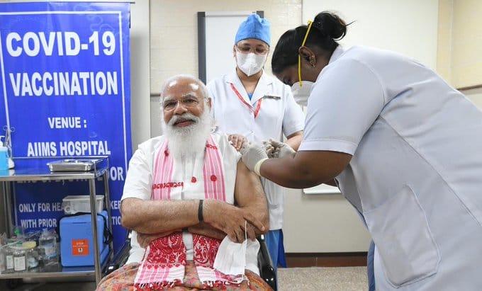 PM Modi Takes First Shot Of COVID19 Vaccine