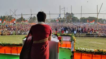 Congress General Secretary Priyanka Gandhi Vadra Announces 5 lakh new jobs in Assam