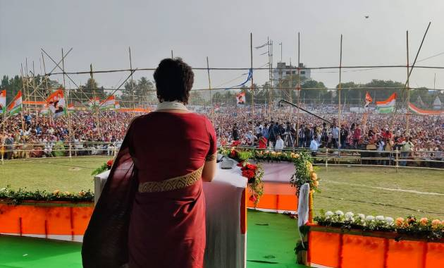 Congress General Secretary Priyanka Gandhi Vadra Announces 5 lakh new jobs in Assam