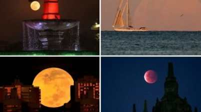 Super flower blood moon' lights up night skies