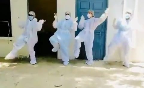 COVID19: Dancing doctors in Beed District hit social media (Viral Video)