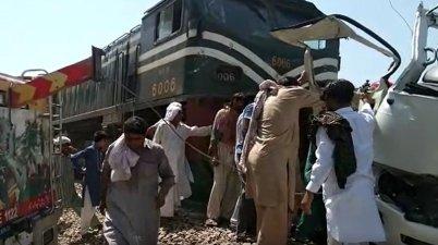 Pakistan Sindh Train Accident