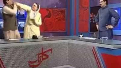 Pakistan MP Gets Slapped In Live TV Debate