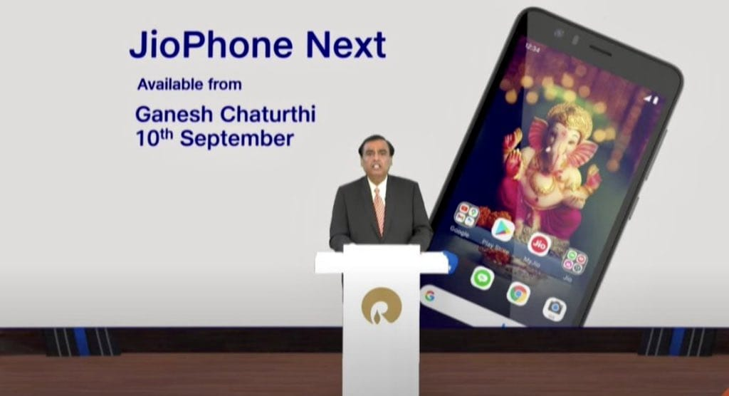 Reliance AGM 2021: Reliance announces Jio Phone Next with Google's