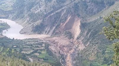 Major landslide in Lahaul Spit