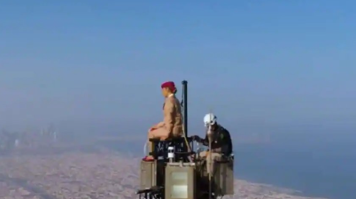 Watch: A woman stands on top of Burj Khalifa in viral Emirates ad