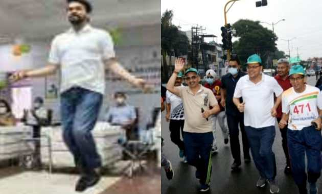 National Sports Day: Cabinet Minister Anurag Thakur Shows Off His Skipping Skills
