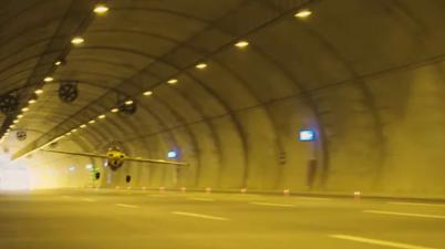 Pilot Dario Costa completes hair-raising world record tunnel flight