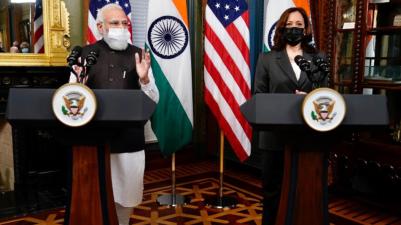 PM Modi, US VP Kamala Harris jointly address the media