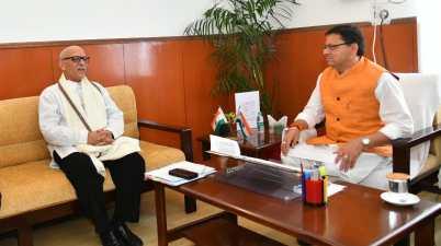 Uttarakhand PMO Advisor Bhaskar Khulbe Meet CM Pushkar Dhami