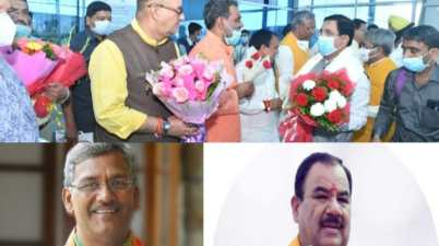 BJP Election Incharge Union Minister Prahlad Joshi in Dehradun